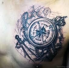 38 stylish map tattoos on chest