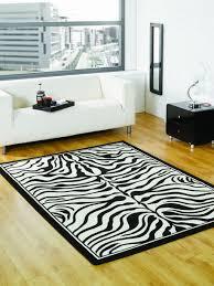 White Modern Rug by Wildlife Zebra Black And White Modern Rug Quality Rugs At