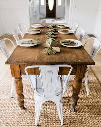 farm table dining room farm table and white chairs 3 what fun this would be to