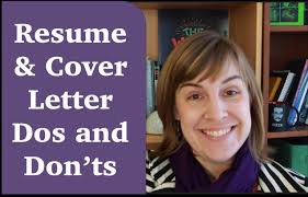 How To Write A Resume Letter Resumes U0026 Cover Letter Dos And Don U0027ts Youtube