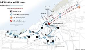 Cleveland Rta Map Rite Aid Cleveland Marathon Running So Race Is Running Out Of