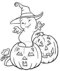 Halloween Colouring Printables Halloween Ghost Colouring Pages Page 3 With Free Halloween