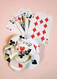 Playing Card Wedding Invitations Diy Playing Card Flower This Will Go Perfectly On My Dress I U0027m