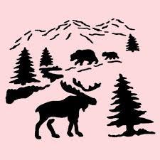 moose template best 25 stencil ideas on