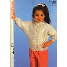 sleeve sweater knitting pattern patons 3066 knit child s dolman sleeve