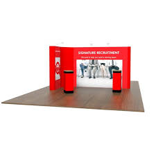 stand up l with shelves 2m x 4m l shaped pop up exhibition stand modular exhibition stand