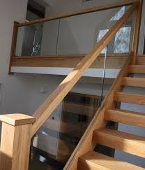 glass stair banisters stairs pinterest oak stairs