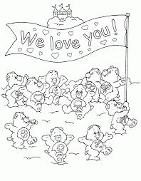 coloring pages of care bears care bears coloring page with