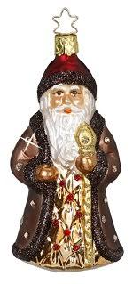 santa ornaments st nick by inge glas