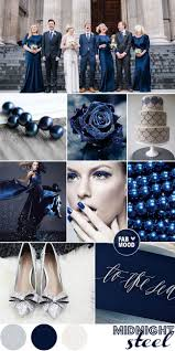 blue color palette midnight blue wedding colour steel and grey wedding