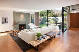 bench in living room interior design