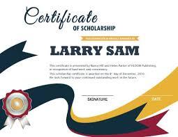 scholarship certificate u2022 hloom com