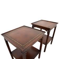 coffee table leather top 57 off macy u0027s macy u0027s antique leather top end tables tables