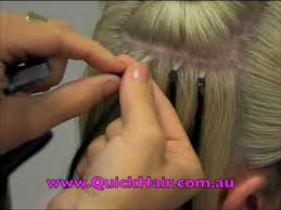 micro link hair extensions hair loop micro link hair extension application