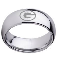 8mm ring size letter g design dome silver tungsten wedding band 8mm woman
