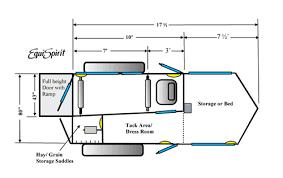 equispirit 1 horse gooseneck trailer floorplan