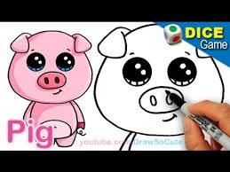 How To Build A Pig Barn How To Draw A Cartoon Pig Cute And Easy Step By Step Youtube