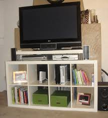 expedit entertainment center with a colorful twist ikea hackers