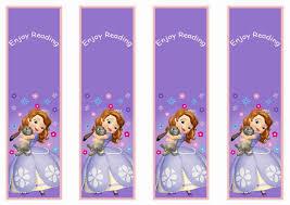 sofia bookmarks u2013 birthday printable