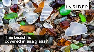 Beach Of Glass This Beach Is Covered In Sea Glass Instead Of Sand Youtube