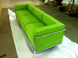 Green Leather Sofa by Le Corbusier Style Lc3 Sofa In Leather Multiple Colors Materials