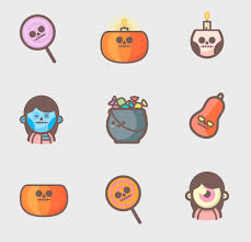 Halloween Icons Free Pimtext Rack Cards Template Illustrator Business Card Template