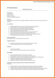 Art Teacher Resume Template Examples Of A Job Resume First Job Student Resume Examples