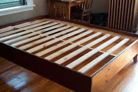 Making A Wood Platform Bed by Queen Wood Bed Frame Plans Frame Decorations