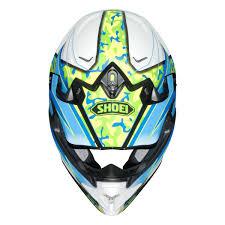 green motocross helmets shoei vfx w motocross mx helmet turmoil tc 2 blue green matt
