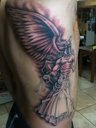 Blind Justice Meaning Angel Of Justice Rib Side Tattoo Design Photos Pictures And