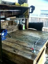 diy pallet work table work bench made completely out of pallets my diy pinterest