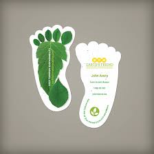 business cards sustainability footprint seed paper business cards plantable