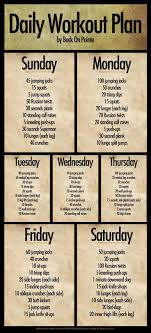 best 25 daily workout plans ideas on daily workout