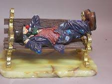 Capodimonte Tramp On A Bench Ron Lee Sculptures Ebay