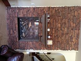 festive fireplace remodel with fake stone creative faux panels