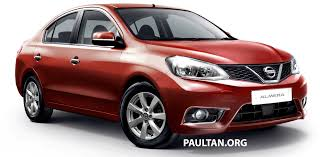 nissan almera used car malaysia nissan almera facelift with v motion face rendered