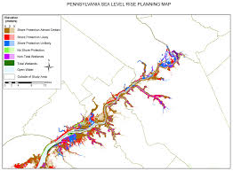 Map Of Bucks County Pa Sea Level Rise Planning Maps Likelihood Of Shore Protection In