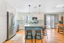 cottage white and blue kitchen point pleasant new jersey by design