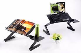 Lap Desk With Mouse Pad Cooler Folding Table Multi Functional Laptop Stand For Bed