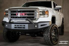 led lights for 2014 gmc sierra ici gmc sierra ld magnum front bumper with rt series light bar 2014 2015