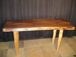 Slab Table Etsy by Black Walnut Slab Table Desk With Spalted Maple Legs 950 00
