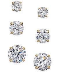 cubic zirconia stud earrings cubic zirconia earrings shop cubic zirconia earrings macy s