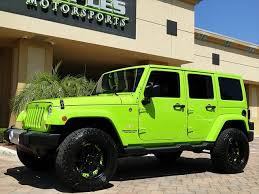 lime green jeep wrangler 2012 for sale 2012 jeep wrangler unlimited