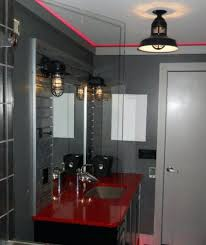 Industrial Style Bathroom Vanity by Black Bathroom Vanity Light Sea Gull Lighting Academy 3light