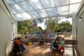 indoor outdoor space the bridge expansion wrns studio