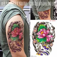 large temporary tattoo stickers waterproof women men colorful
