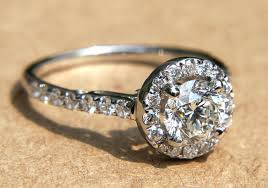 etsy rings wedding images Engagement halo pave vintage inspired engagement ring from etsy jpg