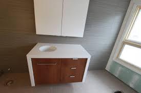 bathroom modern ceiling light wooden frame mirror bathroom