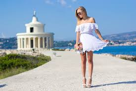 greece kefalonia 2nd day white dress thecablook by