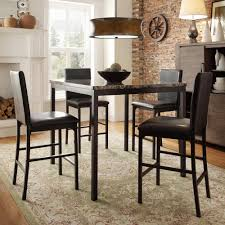 Counter High Dining Room Sets by Homesullivan Bedford 5 Piece Black Bar Table Set 402601 365pc